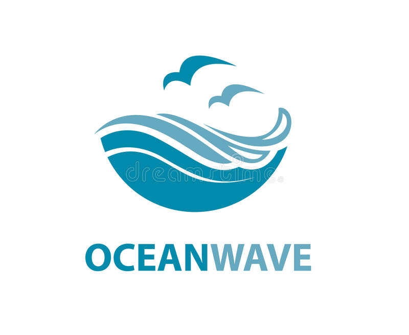 Ocean wave logo stock illustration