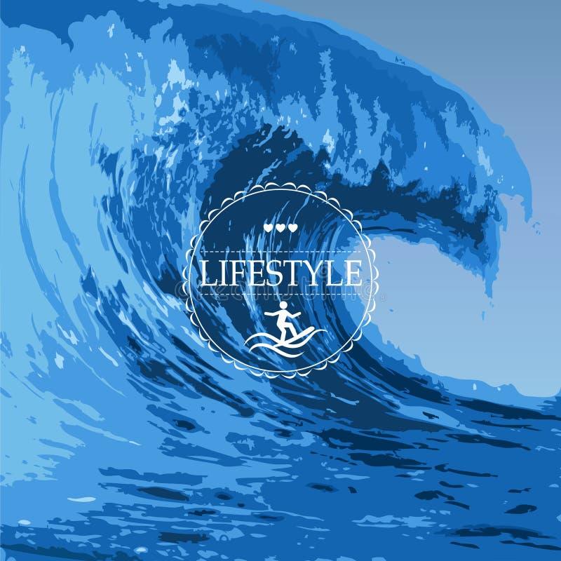 Ocean wave stock illustration