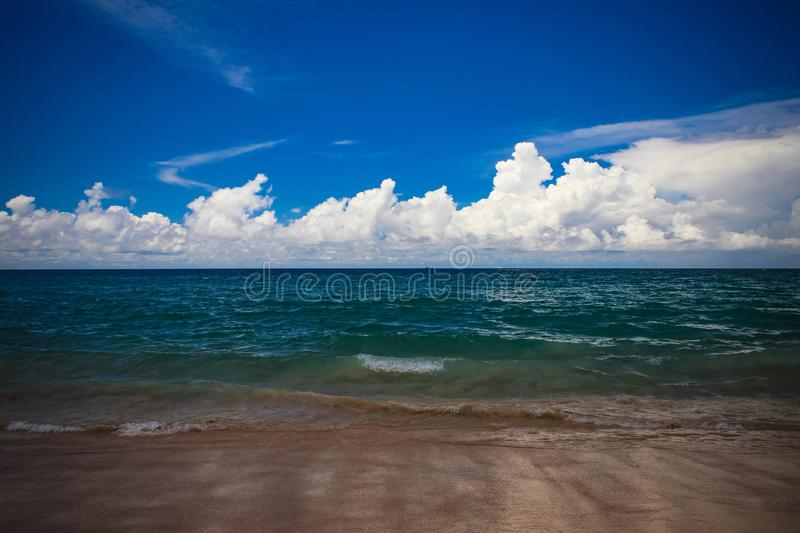 Ocean wave in thai with cloud. Sky royalty free stock image