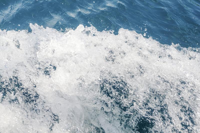 Ocean Wave Top View, Water Texture, Nature Background. Summer background stock photography