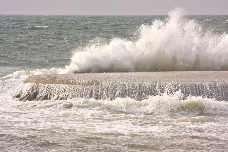 Download Ocean waves stock photo. Image of concrete, waves, dock - 12607026