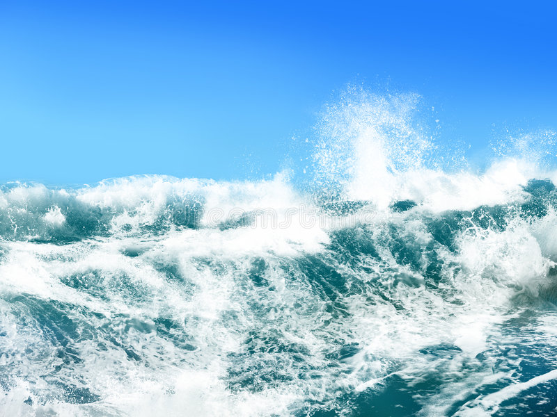 Download Ocean Waves stock illustration. Image of high, turquoise - 4829975