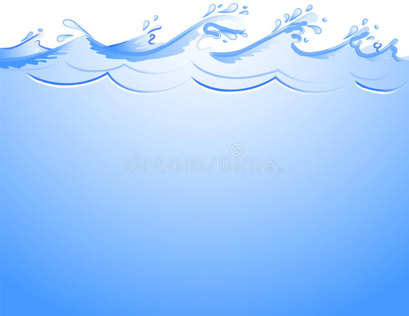 Ocean waves background royalty free illustration