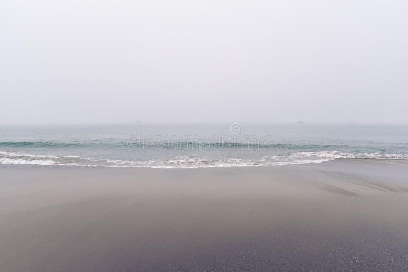 Ocean Waves on Beach Side stock photos
