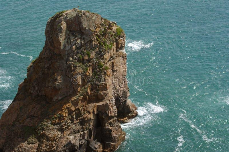 Ocean waves. Beautiful coast of Portugal stock photo