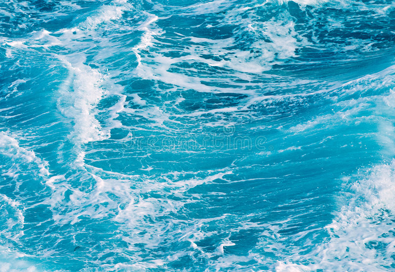 Ocean waves blue background royalty free stock image