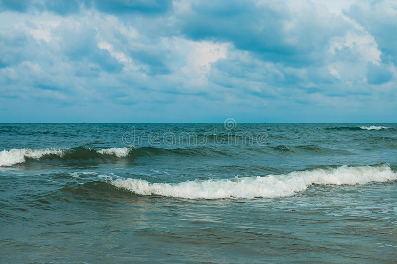 Ocean waves and blue sky royalty free stock photo