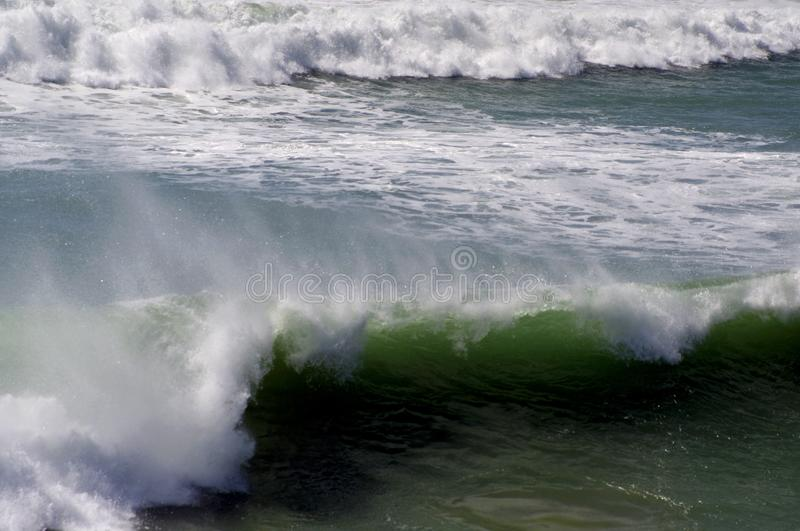 Ocean waves. Coast of Portugal, Ericeira royalty free stock images