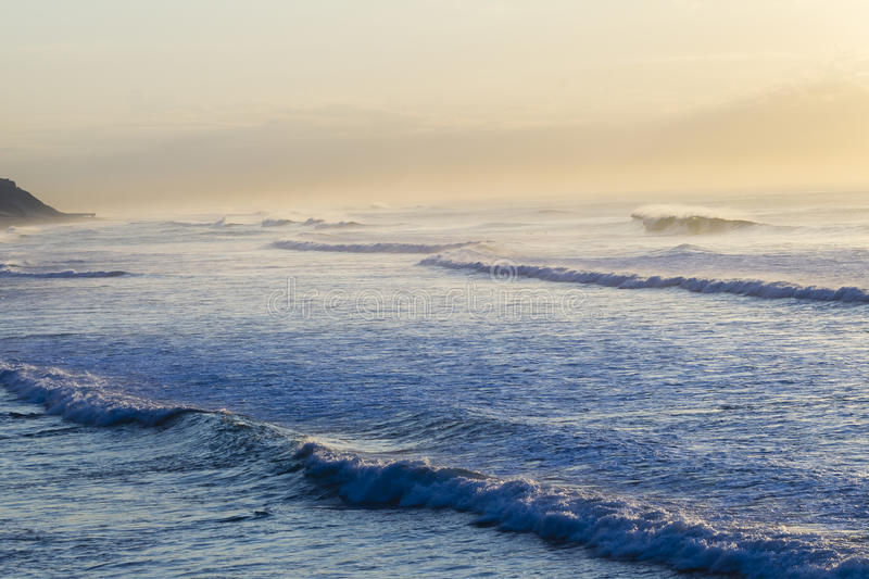 Ocean Waves Dawn stock image