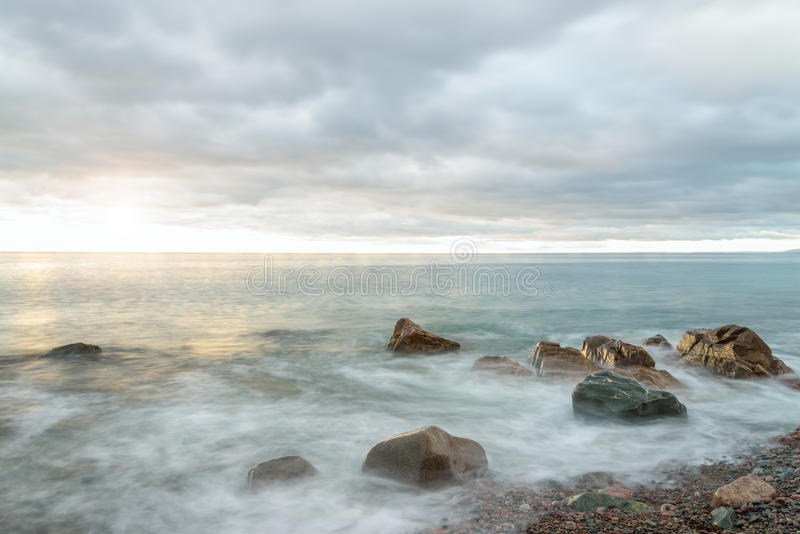 Download Ocean Waves At Sunrise - Long-exposure Stock Photo - Image: 34681050