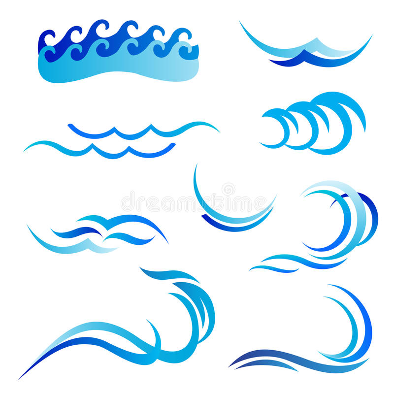 Ocean waves royalty free illustration