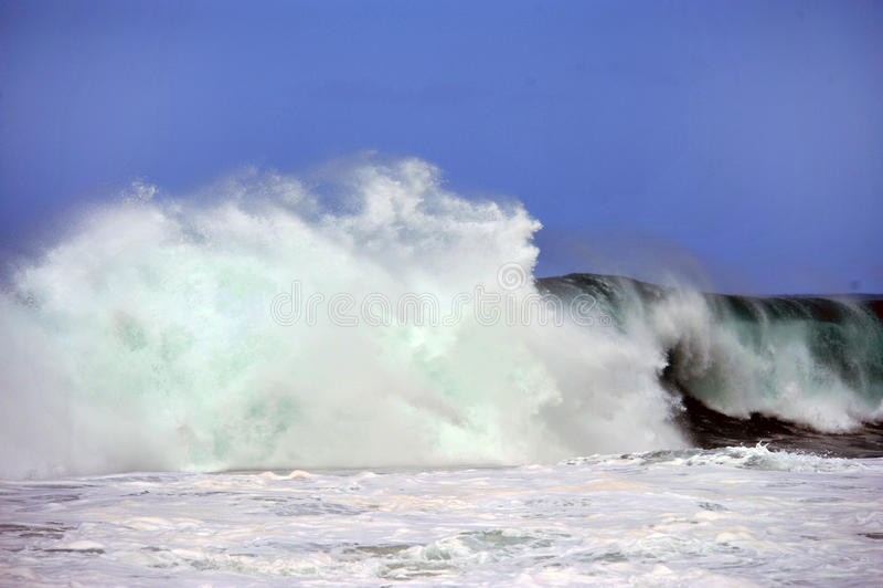 ocean wielka fala zdjęcie stock