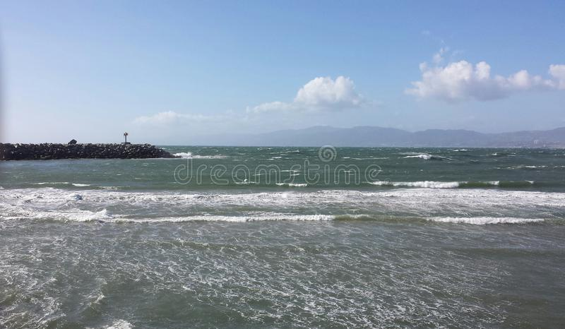 Ocean On A Windy Day stock photo