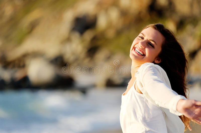 Ocean woman lifestyle royalty free stock images