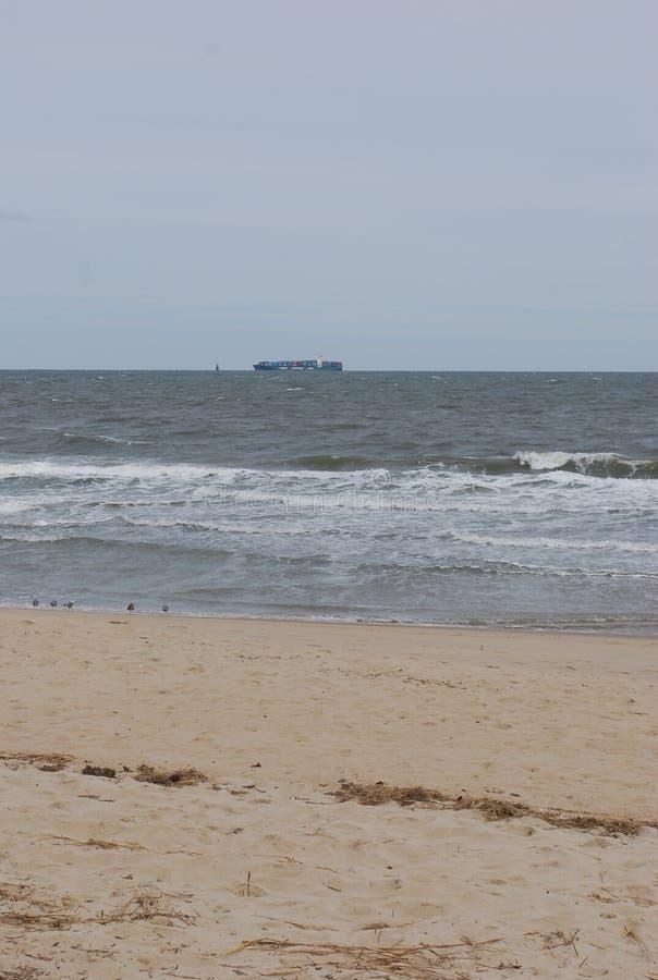 Ocean z łodzią zdjęcia royalty free