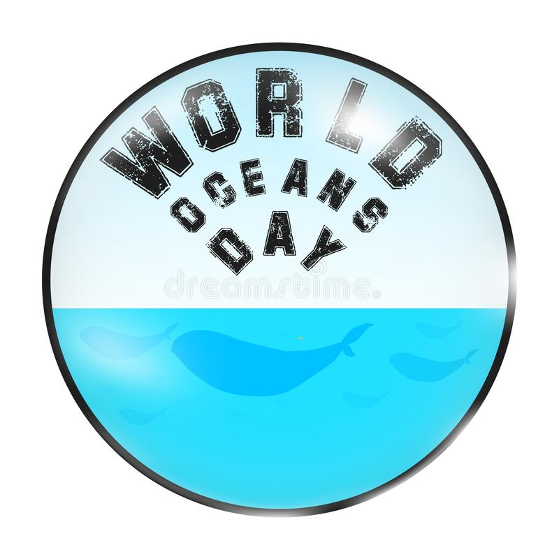 Oceanengebied vector illustratie