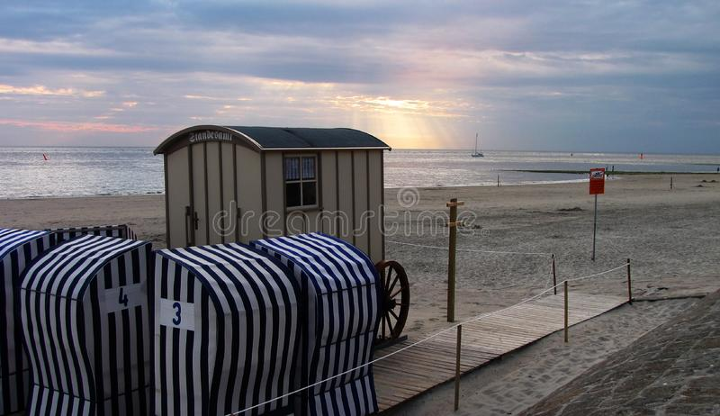 Oceanfront comfort stations royalty free stock photography