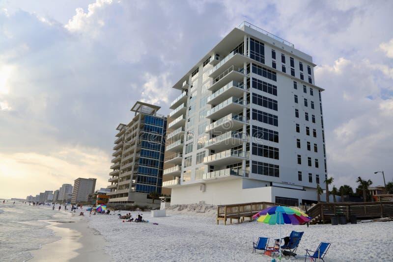 Oceanfront di Destin Florida fotografia stock