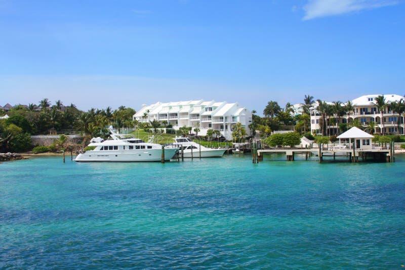 Oceanfront di Nassau, Bahamas fotografia stock libera da diritti