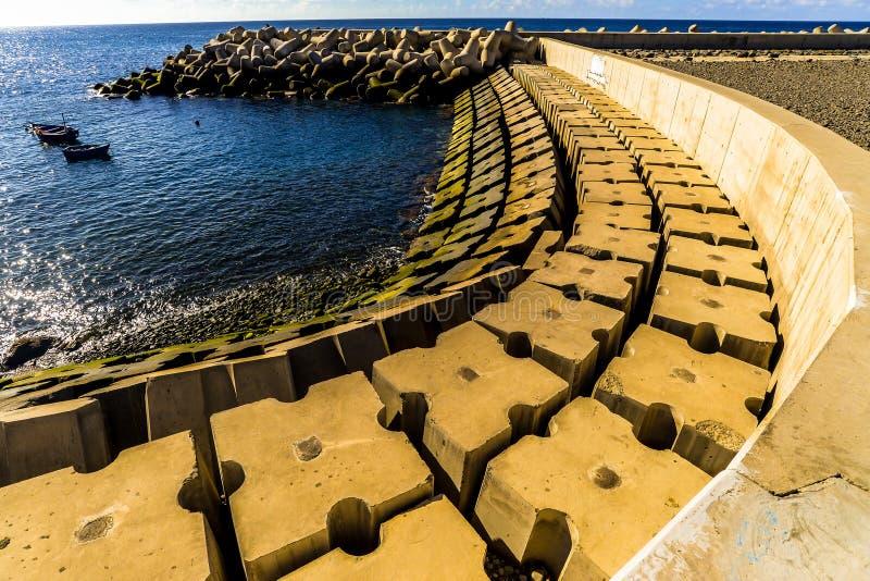 Oceanfront på Funchal - Maderia royaltyfria bilder