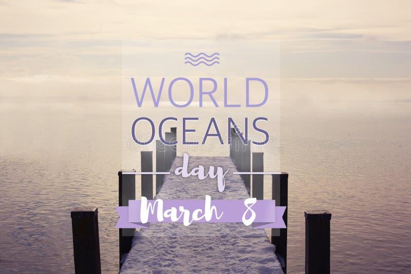 Oceani giorno del mondo, l'8 giugno fotografia stock libera da diritti