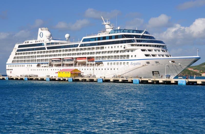 Oceania Regatta. Cruise ship Oceania Regatta docked in Philipsburg, St.Maartin royalty free stock photography