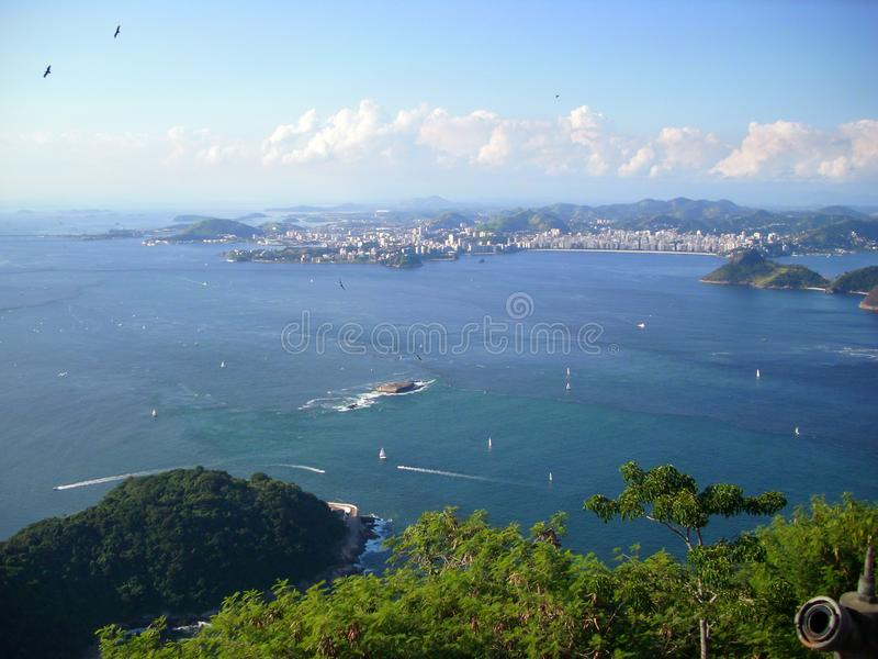 Beautiful beaches in the south of america oceanic coast of Brazil. Oceanic coast in Brazil to enjoy the beaches and the mountains royalty free stock photo