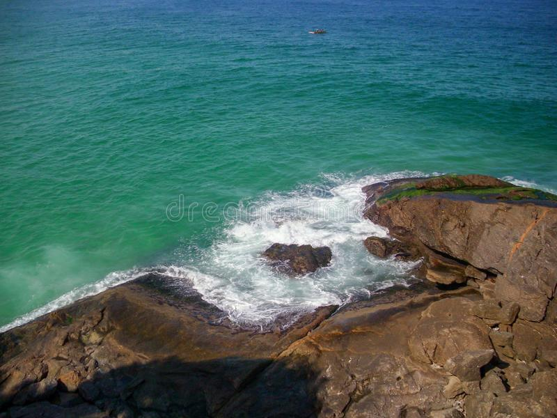 Beautiful beaches in the south of america oceanic coast of Brazil. Oceanic coast in Brazil to enjoy the beaches and the mountains royalty free stock photos