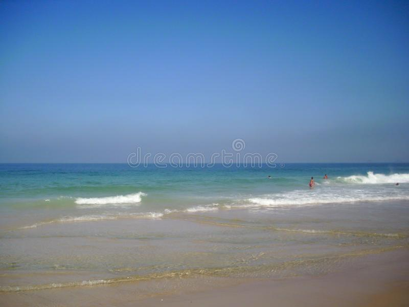 Beautiful beaches in the south of america oceanic coast of Brazil. Oceanic coast in Brazil to enjoy the beaches and the mountains stock photo