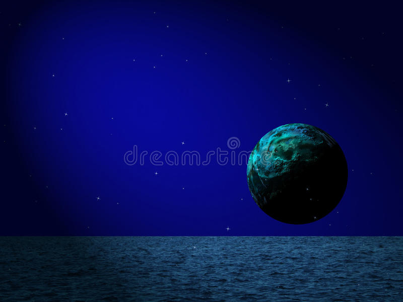 oceaniczna błękitny księżyc zdjęcia stock