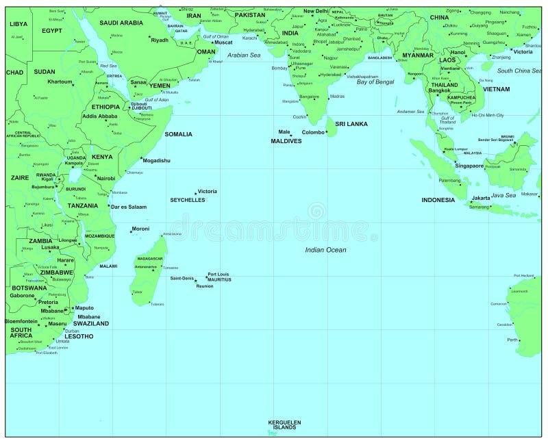 Oceano Índico ilustração stock