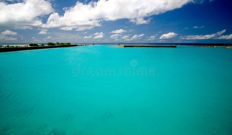 Oceano Índico colorido fotografia de stock