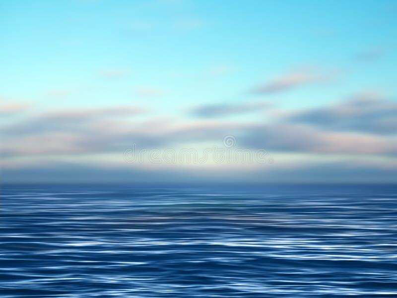 Oceano ilustração royalty free
