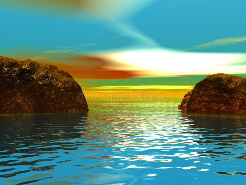 Oceano royalty illustrazione gratis