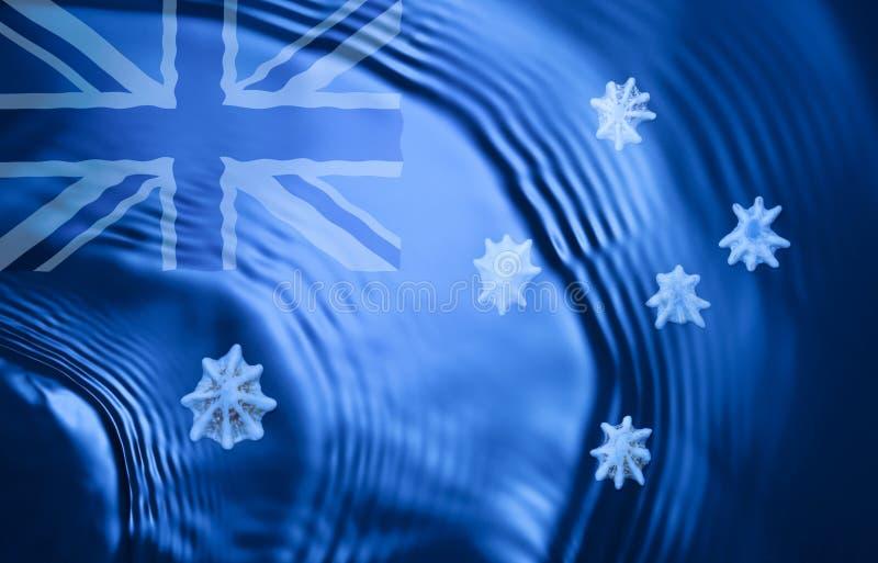 Oceano australiano abstrato da bandeira imagens de stock