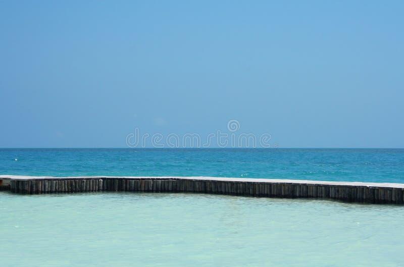 Oceano azul fotografia de stock
