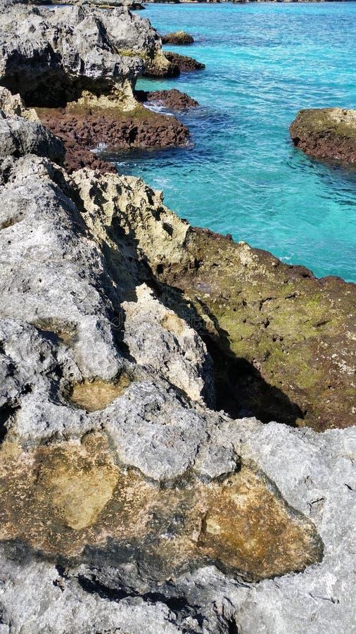 Oceano azul foto de stock