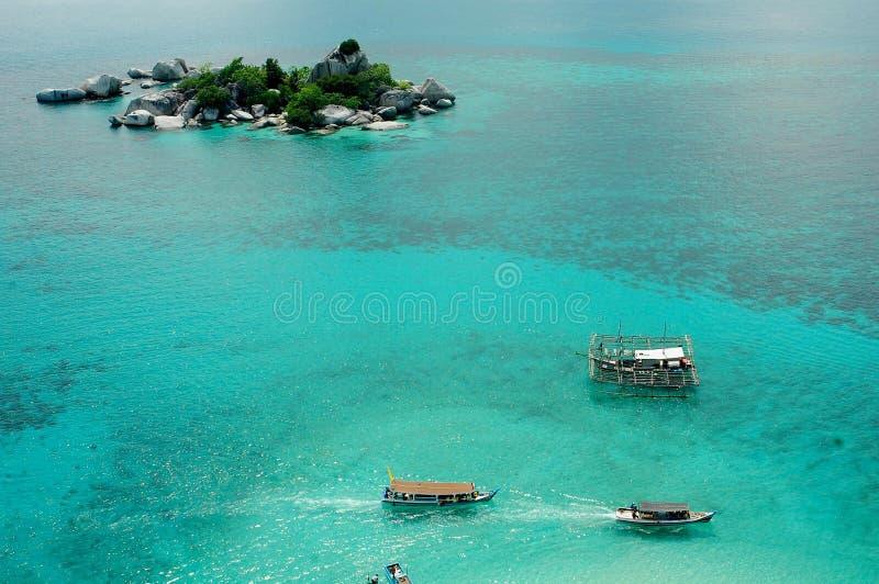 Oceano blu fotografie stock