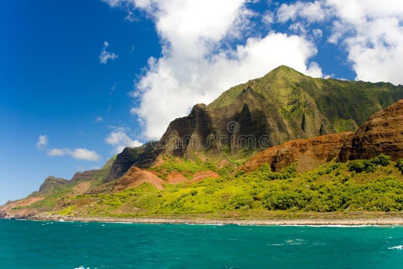 Oceano con le montagne fotografia stock libera da diritti