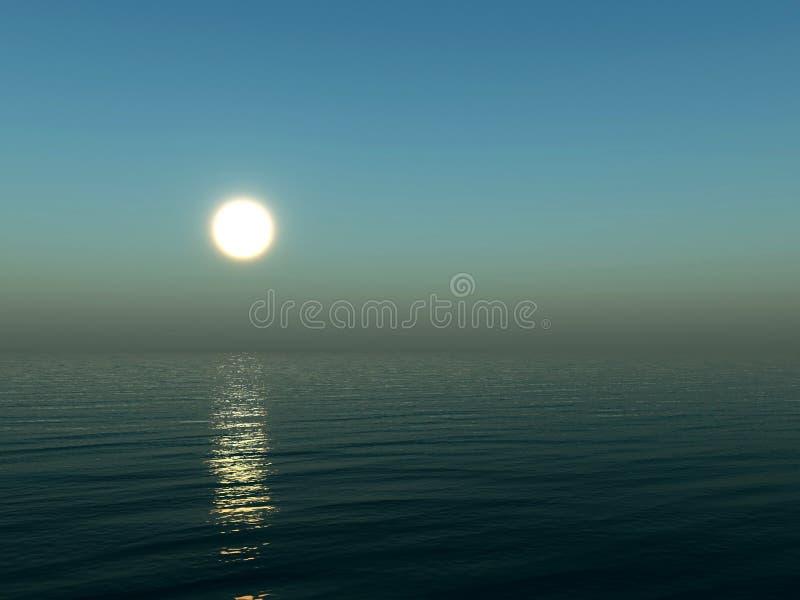 Oceano da noite ilustração royalty free