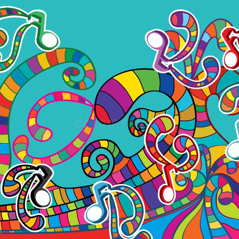 Oceano da onda da música ilustração do vetor
