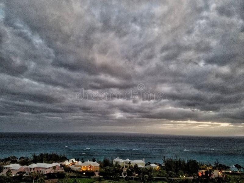 Oceano da tempestade imagem de stock