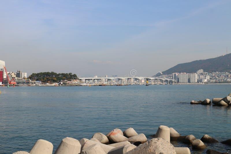 Oceano de Busan fotografia de stock