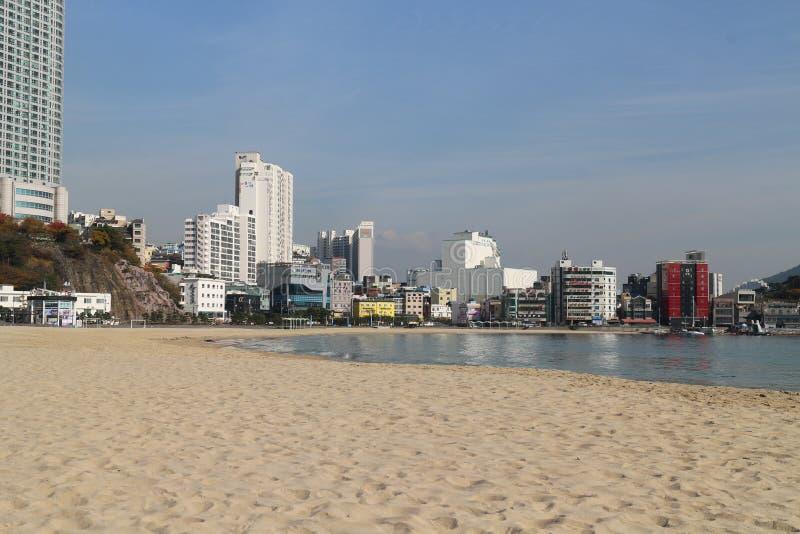 Oceano de Busan imagem de stock