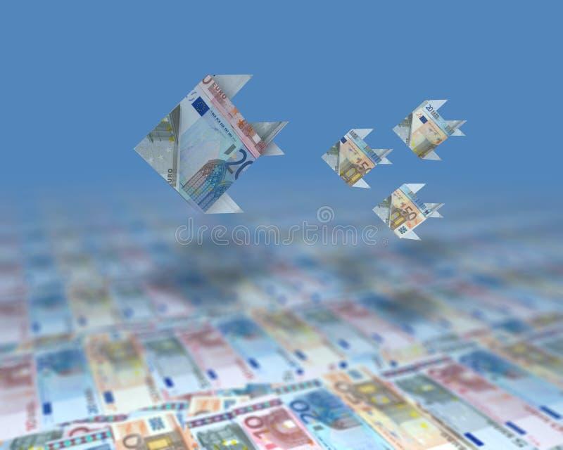 Oceano dei soldi illustrazione vettoriale