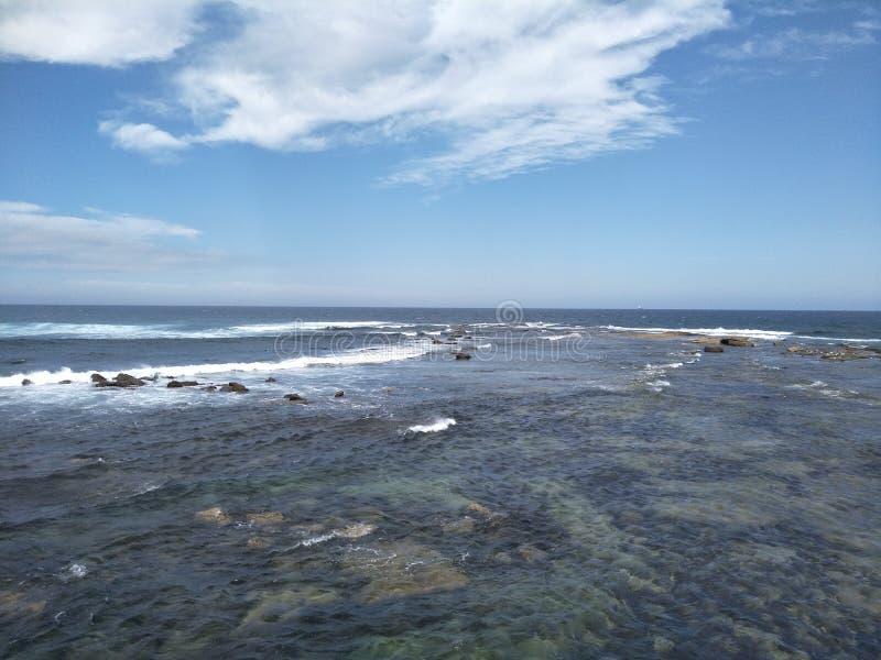 Oceano della panoramica fotografia stock libera da diritti