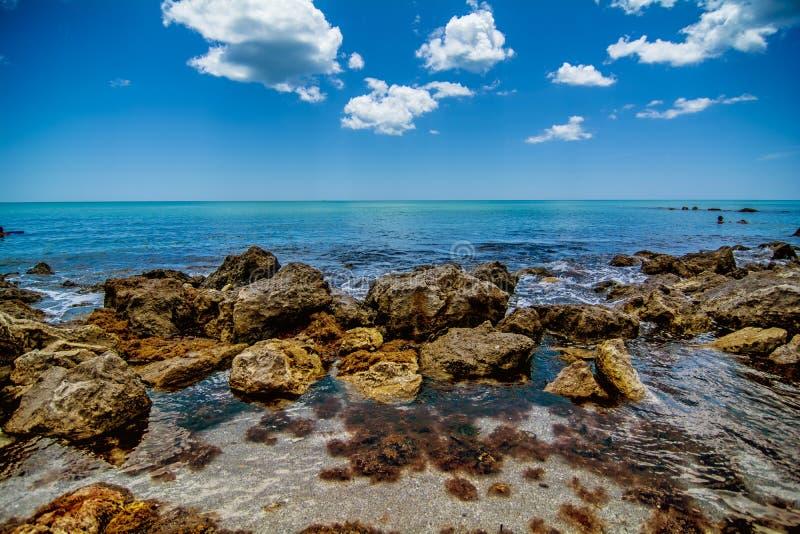 Oceano della spiaggia di Venezia fotografia stock
