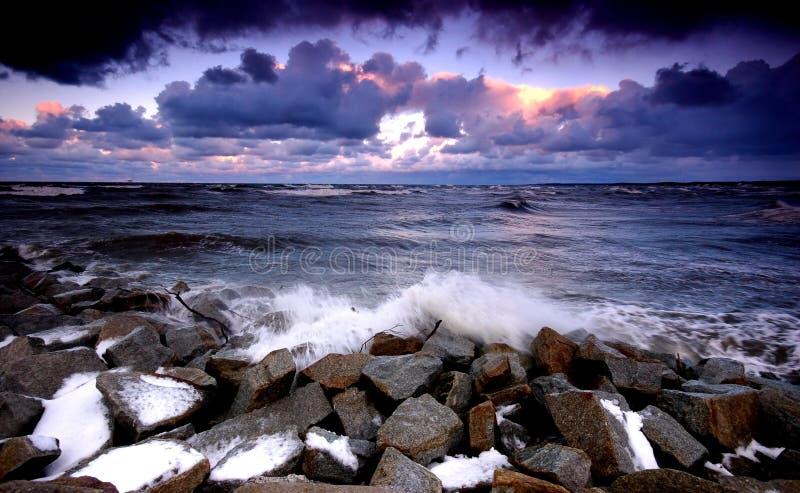Oceano di tramonto immagine stock libera da diritti