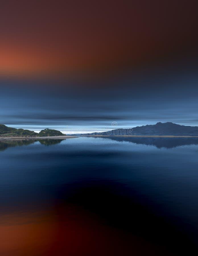 Oceano e montagna fotografia stock