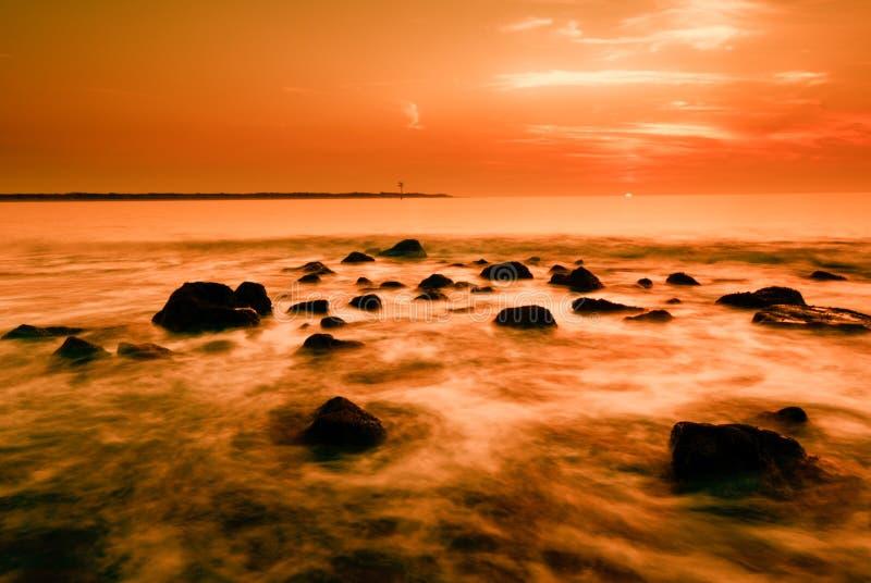 Oceano e por do sol imagem de stock royalty free